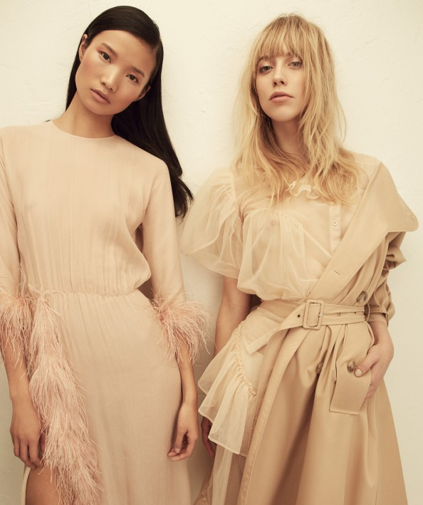 Left: Dress: Prada; Right: Simone Rocha | Source: NYLON/SHXPIR